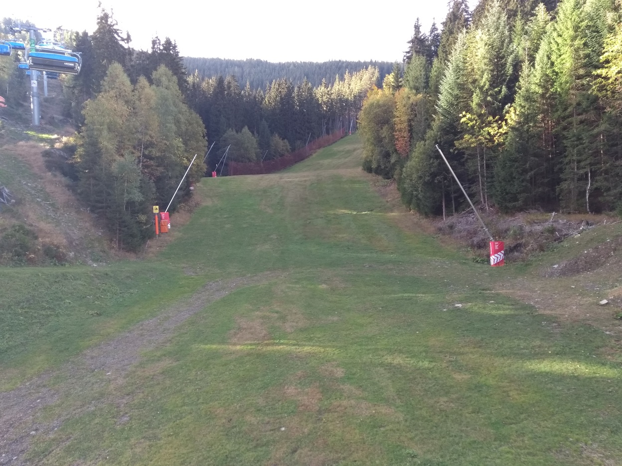 A ski slope without snow looks funny, right?